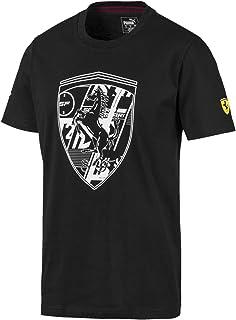 PUMA Men's Scuderia Ferrari Big Shield TEE Black, S