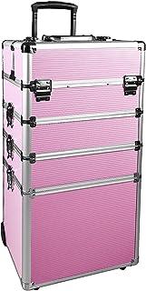NHSM 1つ プロ 化粧品ローリング主催 アルミフレームと折りたたみトレイで化粧列車 ケース4 ピンク