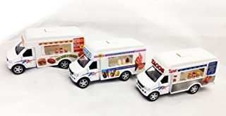 Set of 3 Food Truck Ice Cream Fast Food Tacos Pull Back Action