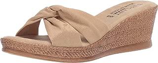 Easy Street Tuscany Women's Dinah Wedge Sandal, Natural, 6.5 2W US