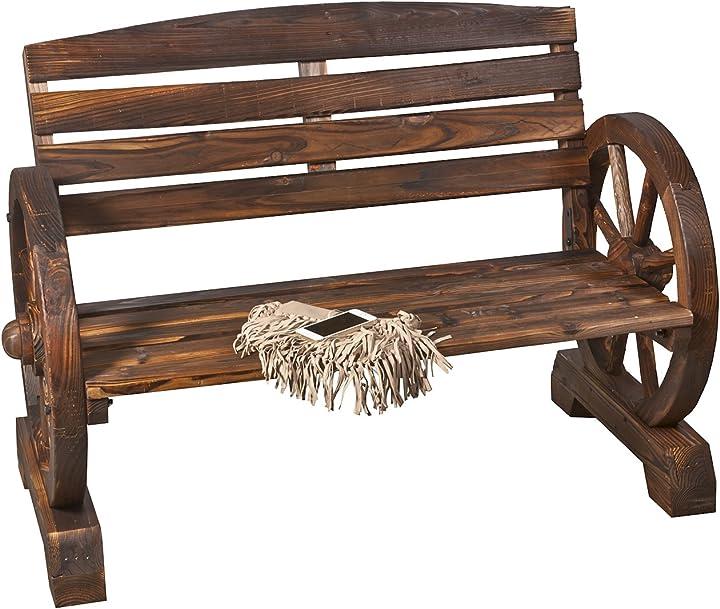 Panca da giardino ws407 in legno b.u.s. wohnstyle gmbh