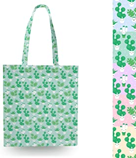 Kawaii Cactus Plants Blue - Open Canvas Tote Bag - Canvas Tote Bag