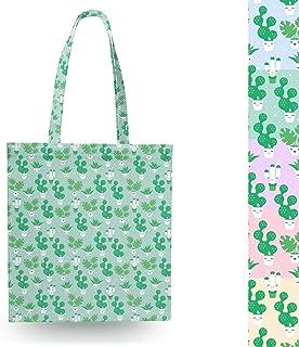 Kawaii Cactus Plants Blue - Open Canvas Tote Bag - Canvas Tote Bag