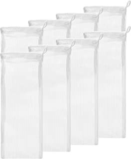 """Small Aquarium Mesh Media Filter Bags - High Flow 500 Micron - 8 Pack - 3"""" by 8"""" with Drawstrings for Activated Carbon - R..."""