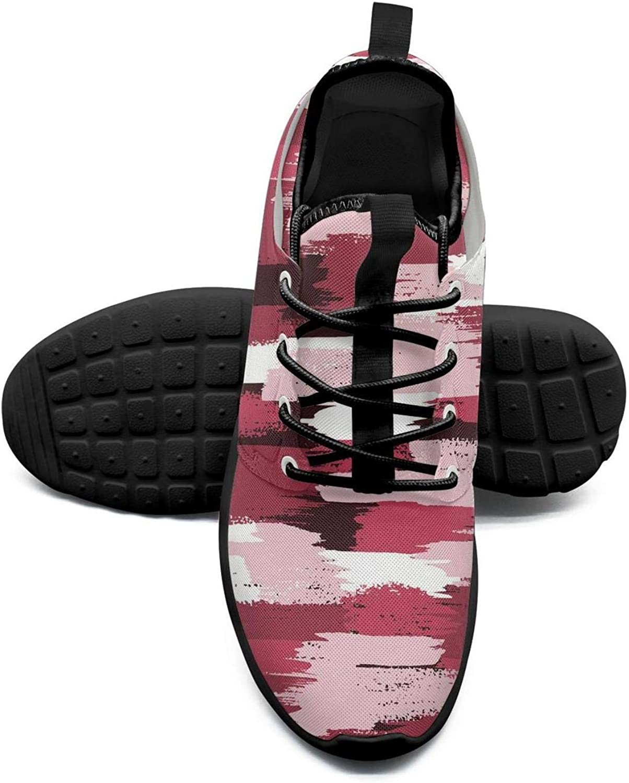 Gjsonmv Pink camo Digital mesh Lightweight shoes Women Non Slip Sports Driving Sneakers shoes
