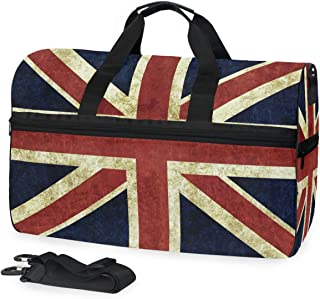 British Flag Big Travel Bag Top Fashion Weekender Large Capacity Camping Fitness Sports Luggage for Women Men