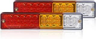 Eyourlife 20 LED Trailer Truck Tail Lights bar DC12V Red Amber White 5 Wires for Rear Lights Turn Signal Lights Brake Lights Backup Lights Running Lights 2Pcs