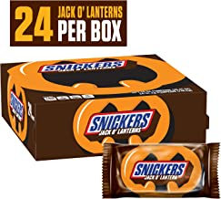 SNICKERS Halloween Pumpkin Singles Chocolate Candy 1.1-Ounce (Pack of 24)