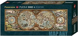 Heye- Puzzle Panorama Hémisphère Map 6000 Pièces, HEYE-29615