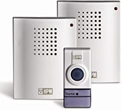 HPM Wireless Door Chime with 2 Receivers, White (D642/012R)