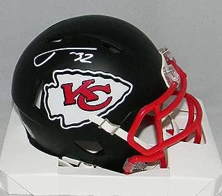 Tyrann Mathieu Signed Mini Helmet - Kansas City Chiefs Flat Black Speed - JSA Certified - Autographed NFL Mini Helmets