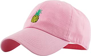 Pineapple Dad Hat Baseball Cap Polo Style Unconstructed