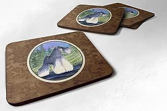 "Caroline's Treasures SS1061FC Schnauzer Foam Coasters (Set of 4), 3.5"" H x 3.5"" W, Multicolor"