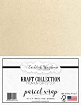 Parcel WRAP Kraft Cardstock - 8.5 X 11 inch - Premium 100 LB. Cover - 25 Sheets from Cardstock Warehouse