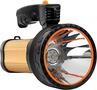 SUPGLAZ Bright Spotlight with 9000mAh Battery Capacity, Rechargeable Flashlight with 30 Hours Long Battery Life, High Powe...