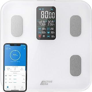 Active Era Bilancia da Bagno Intelligente con Ampio Display LED - Bilancia digitale Bluetooth con 16 Misurazioni, Indice d...