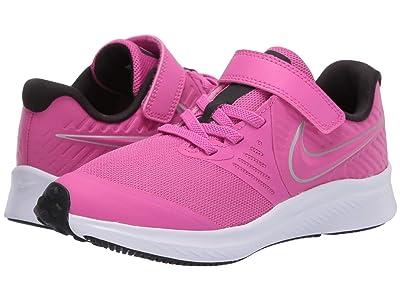 Nike Kids Star Runner 2 (Little Kid) (Active Fuchsia/Metallic Silver/Black) Girls Shoes