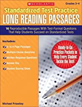 Standardized Test Practice: Long Reading Passages: Grades 3-4: 16 Reproducible Passages With Test-Format Questions That Help Students Succeed on Standardized Tests