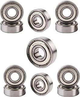 608Z Double Shielded Miniature Deep Groove Ball Bearing 12Pcs