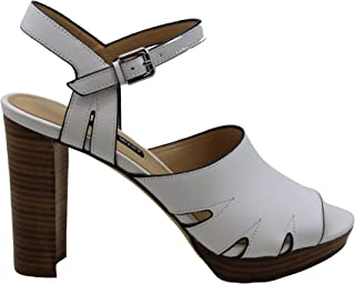 Nine West Womens Delilah Leather Open Toe Casual Ankle Strap, White, Size 6.5