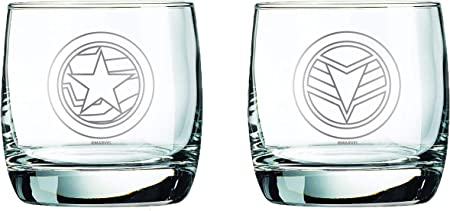 Marvel Collectible Whiskey Glasses (Falcon & Winter Soldier)