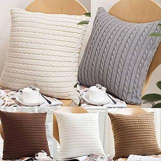 sansee tejer Fashion manta fundas de almohada de café sof