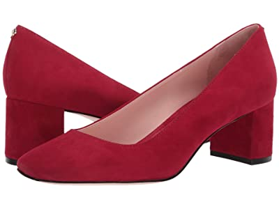 Kate Spade New York Kylah Block Heel Pump (Ruby Suede) High Heels