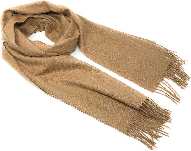 100% Pure Cashmere  Classic Plain Scarf  Camel Colour  Extra Wide
