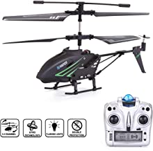 RC Helicopter, Remote Control Helicopter with Gyro and LED Light 3.5 Channel Alloy Mini Helicopter Remote Control for Kids & Adult Indoor Outdoor Micro RC Helicopter, Helicopter Toy for Kids