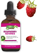Lean Nutraceuticals Raspberry Ketones Drops for Weight Loss Natural Vegan Liquid Extract Formula Plus African Mango, Acai, Green Tea, Fast Absorption Compared to Capsules 60 ml