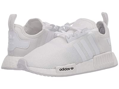 adidas Originals Kids NMD_R1 C (Little Kid) (Footwear White/Footwear White/Crystal White) Kids Shoes