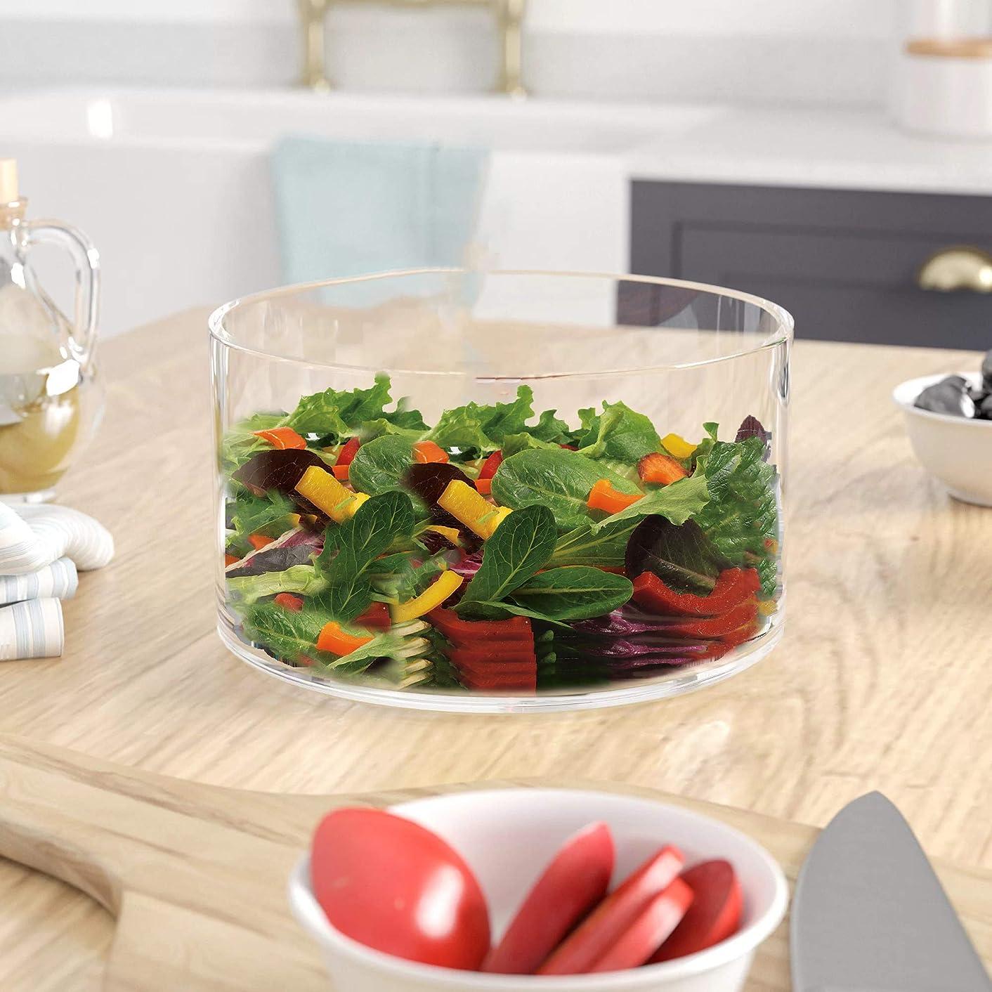 Large Glass Salad Bowl - Serving Dish - 120 Oz. Clear