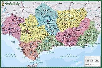 Amazon Es Mapa De Carreteras De Andalucia