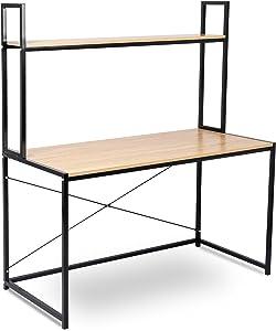 WOLTU TSB02hei Schreibtisch Computertisch Büromöbel PC Tisch Bürotisch Arbeitstisch aus Holz und Stahl, ca,120x60x140 cm