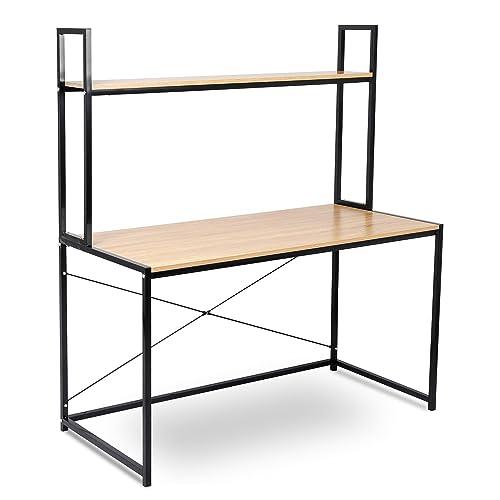 WOLTU TSB02hei Bureau d'ordinateur table de bureau à domicile station de travail en bois et acier,environ 120x60x140cm,14,6kg