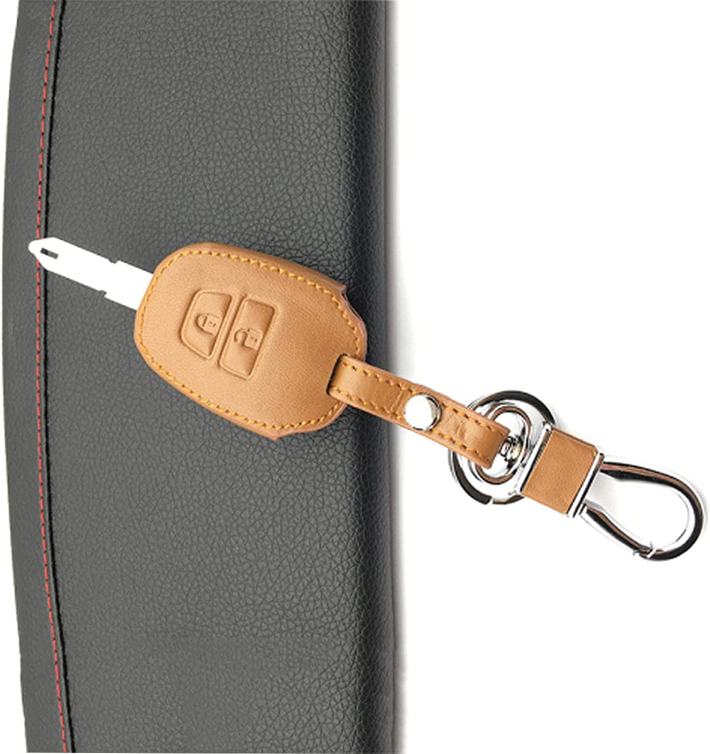 QWIHJ Leather Smart Key Fob Cover Skin Limited time for free shipping Fit Yari Toyota OFFicial store