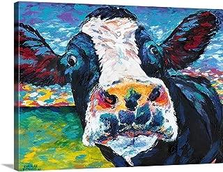 Curious Cow II Canvas Wall Art Print, 16