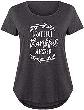 HARPER & QUINN Grateful Thankful Blessed - Ladies Plus Size Scoop Neck Tee