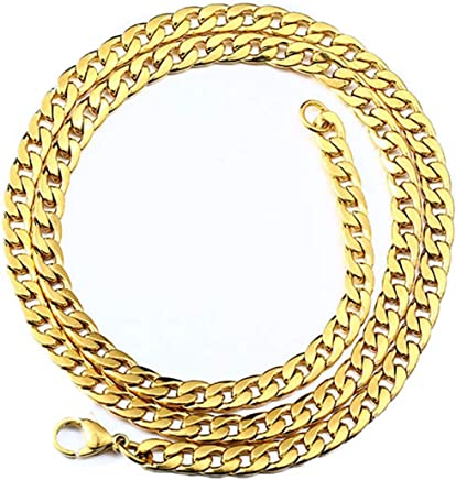 Epinki Stainless Steel Chain Necklace for Men Gold Curb Chain Hip Hop Mens Chain Necklace Rope Necklace