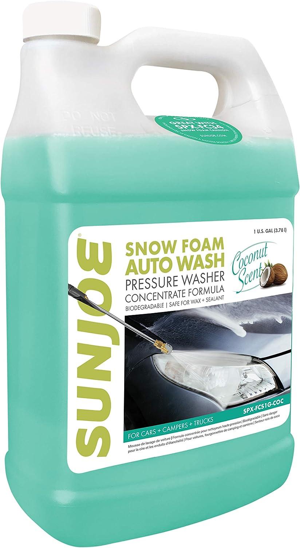 Sun Joe Popular shop is the lowest price challenge SPX-FCS1G-COC Premium Snow Foam S Scent Wash Car Coconut Great interest