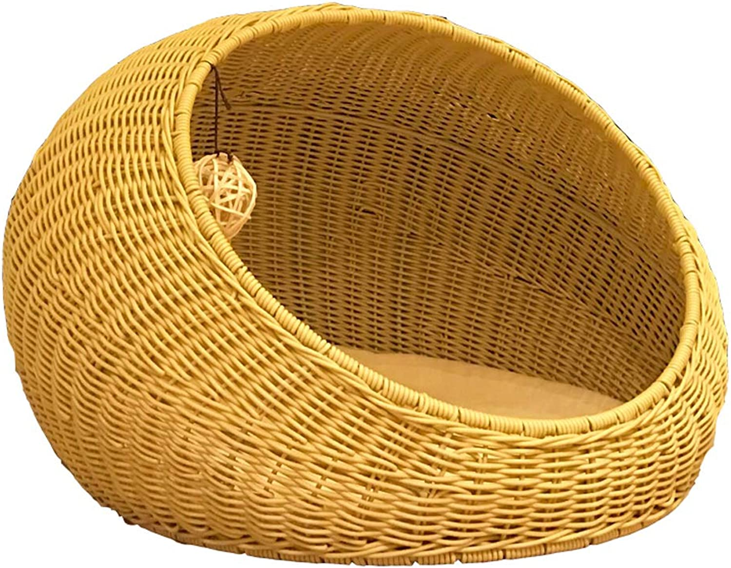 YIZHEN Four Seasons Universal, Luxurious and Beautiful Rattan Cat House, Closed Cat House, Cat Beds for Medium Cats