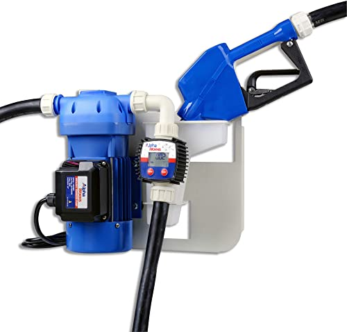 AlphaWorks Diesel Exhaust Fluid DEF/UREA Transfer Pump Kit 8GPM/30LPM 120VAC 300W 2.5A 20' Foot EPDM Discharge & 5' F...
