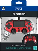 Compact Controller Nacon Wired Illuminated Red For PS4