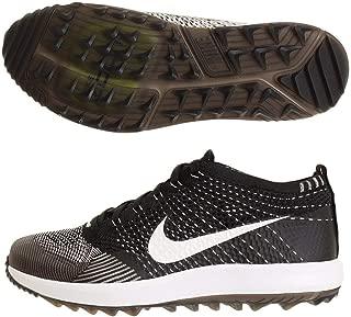 Men's Flyknit Racer G Golf Shoes (10.5 M US, Black/White)