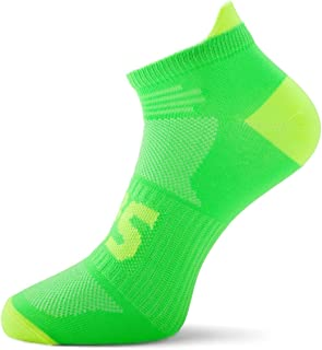 SLS3 Thin Running Socks - Anti Blister - Ultra Light Neon Colors - Athletic Cycling Socks Men | Womens Low Cut Socks