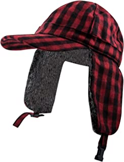 Men's Big and Tall Baseball Cap Trapper Hat w/Flat Brim - Fits Larger Mens Sizes