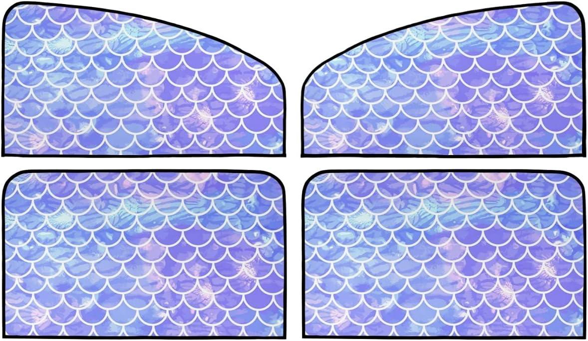 4 Piece Set Magnetic Sun Shield latest Car Mermaid Scale for Windows - service