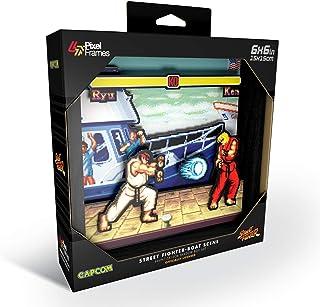 Pixel Frames Capcom Street Fighter - Boat Scene 6x6 Shadow Box Art (Small)