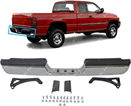BUMPERS THAT DELIVER - Chrome, Steel Rear Step Bumper Assembly for 1994-2002 Dodge RAM 1500 2500 Pickup 94-02, CH1102328