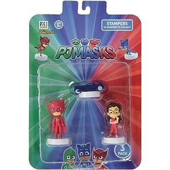 Pj Masks Stampers Blister 3 (S1) - Cat Car, Owlette, Amaya for Kids 3+ Years & Above